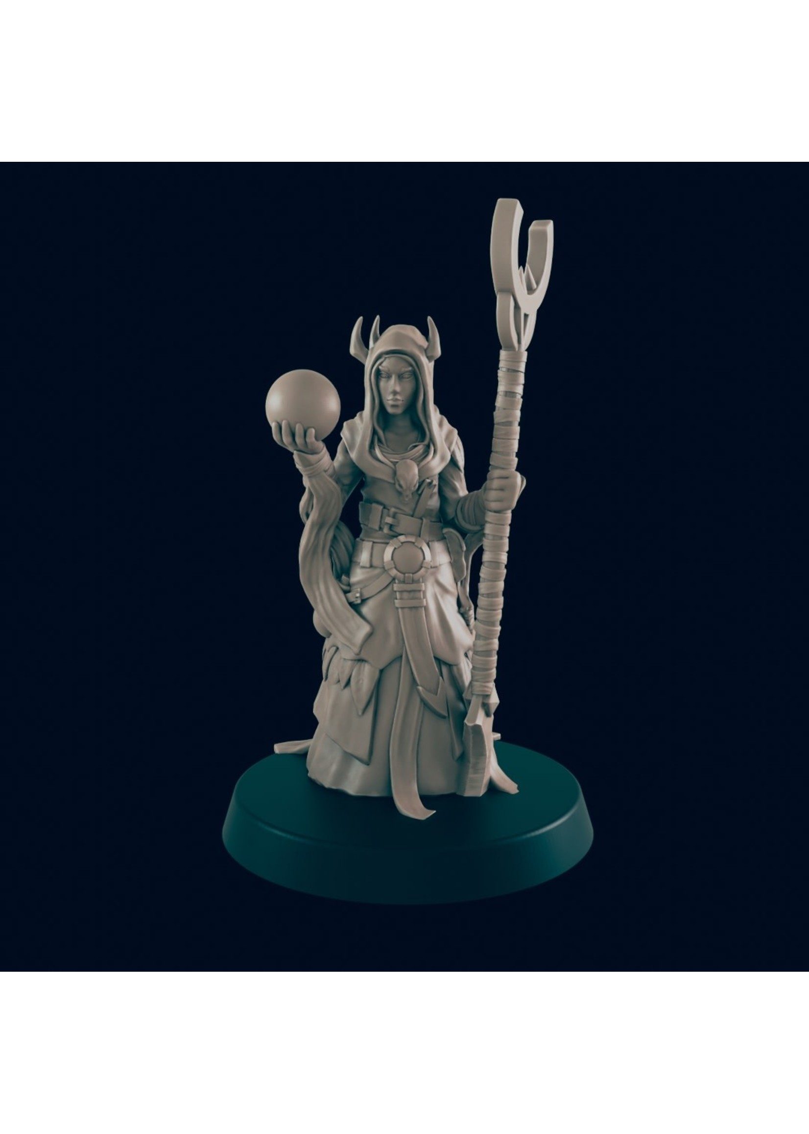 3D Printed Miniature - Cultist 4  - Dungeons & Dragons - Beasts and Baddies
