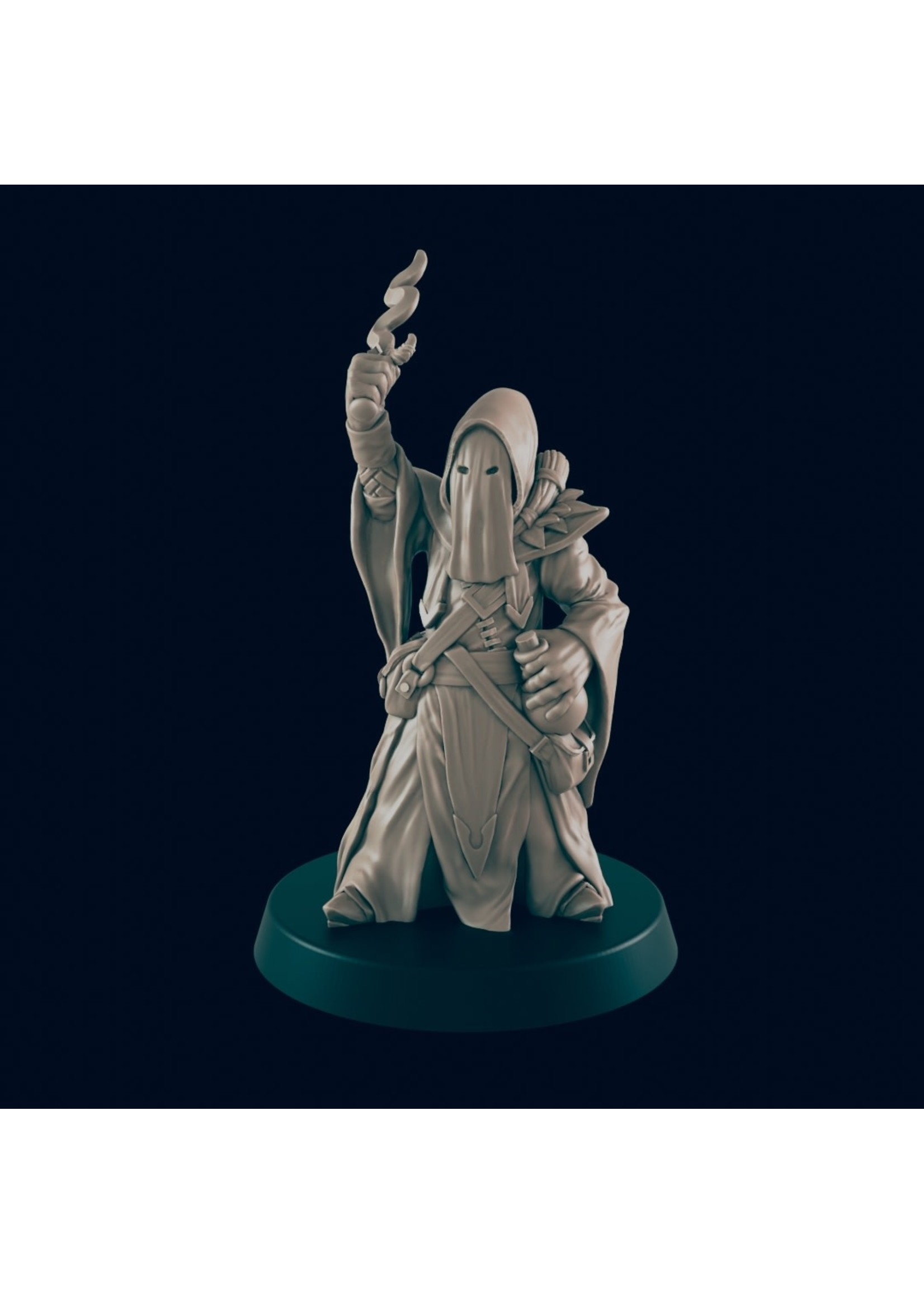 3D Printed Miniature - Cultist 3  - Dungeons & Dragons - Beasts and Baddies