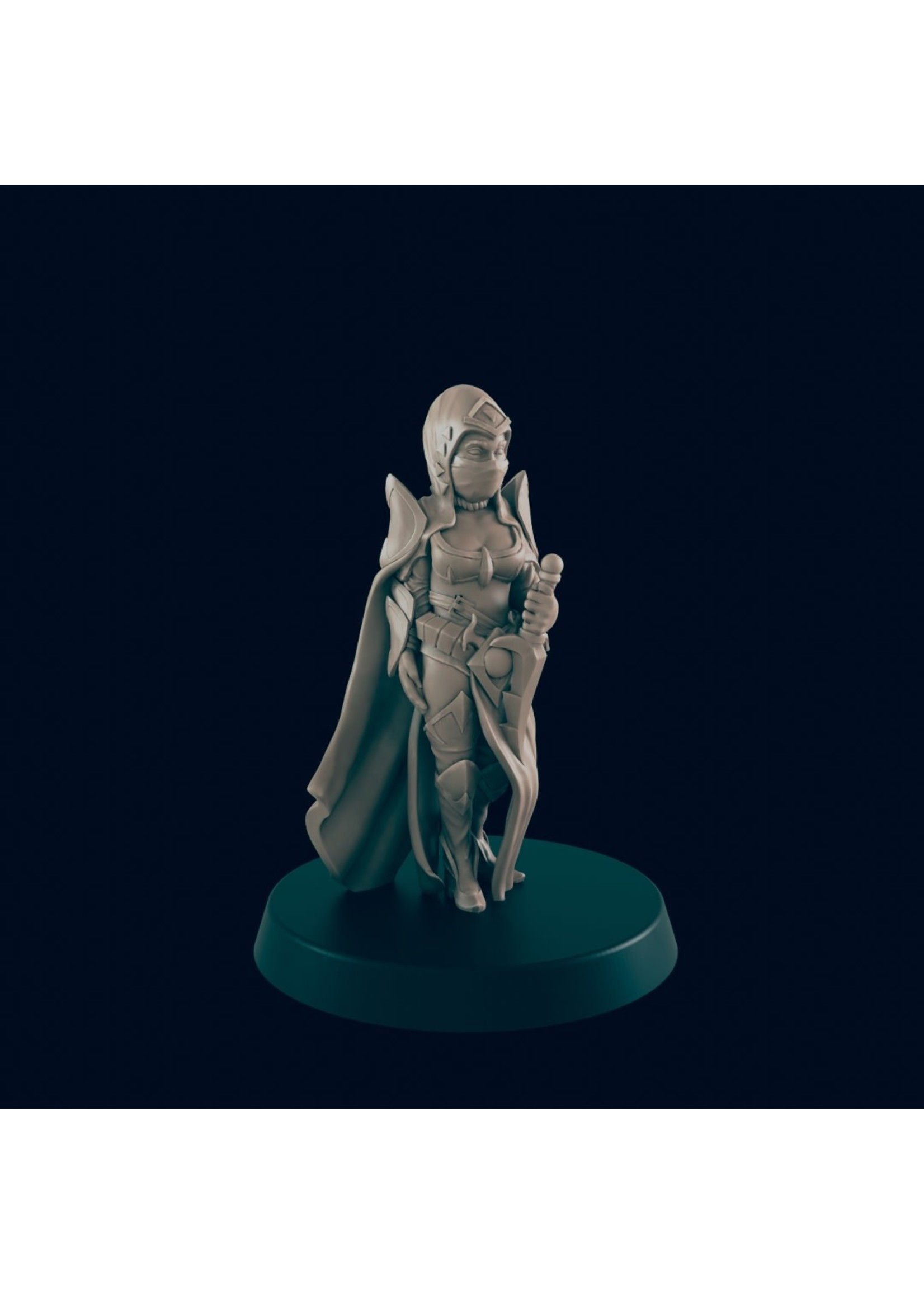 3D Printed Miniature - Cultist 5  - Dungeons & Dragons - Beasts and Baddies