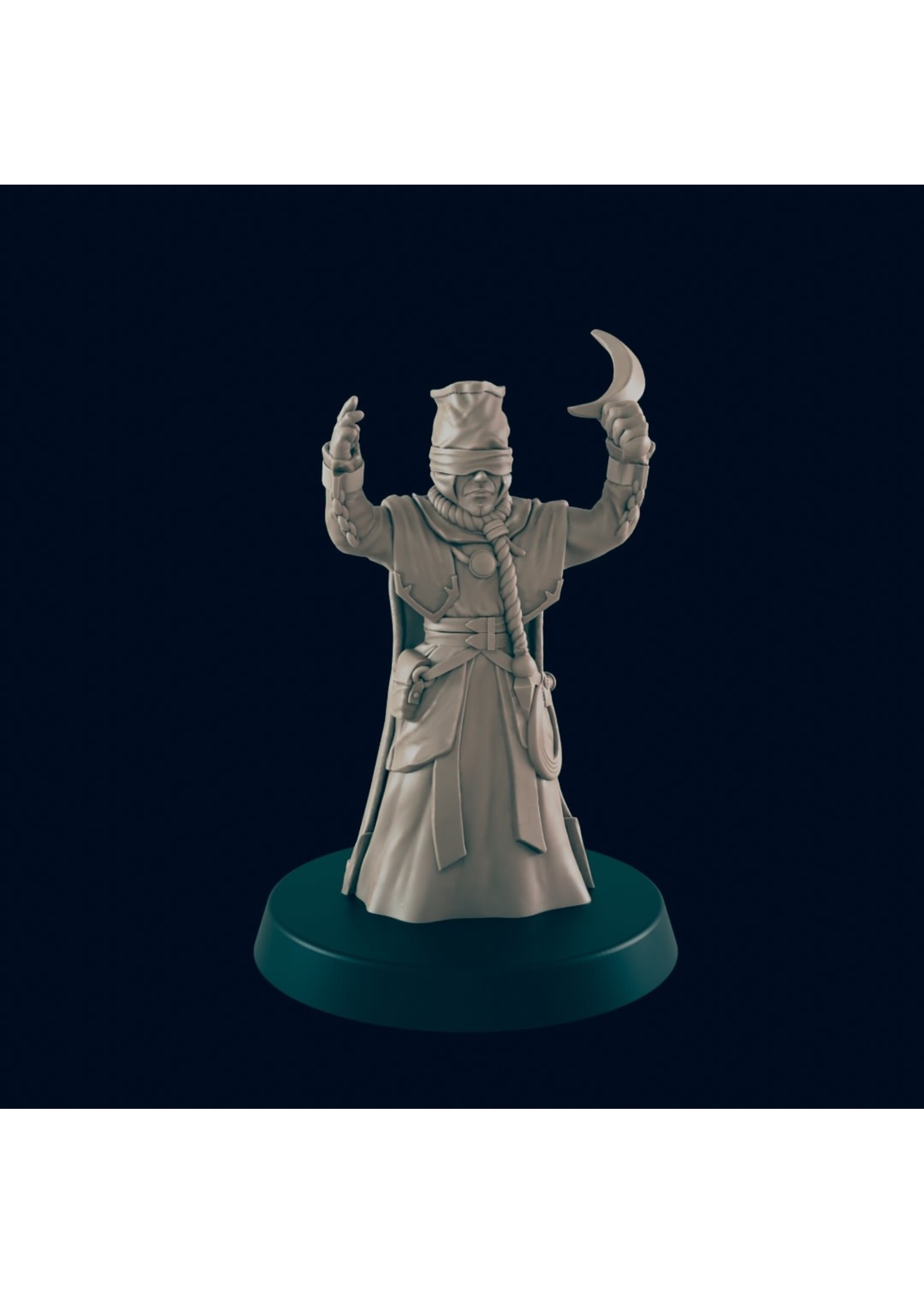 3D Printed Miniature - Cultist 1  - Dungeons & Dragons - Beasts and Baddies