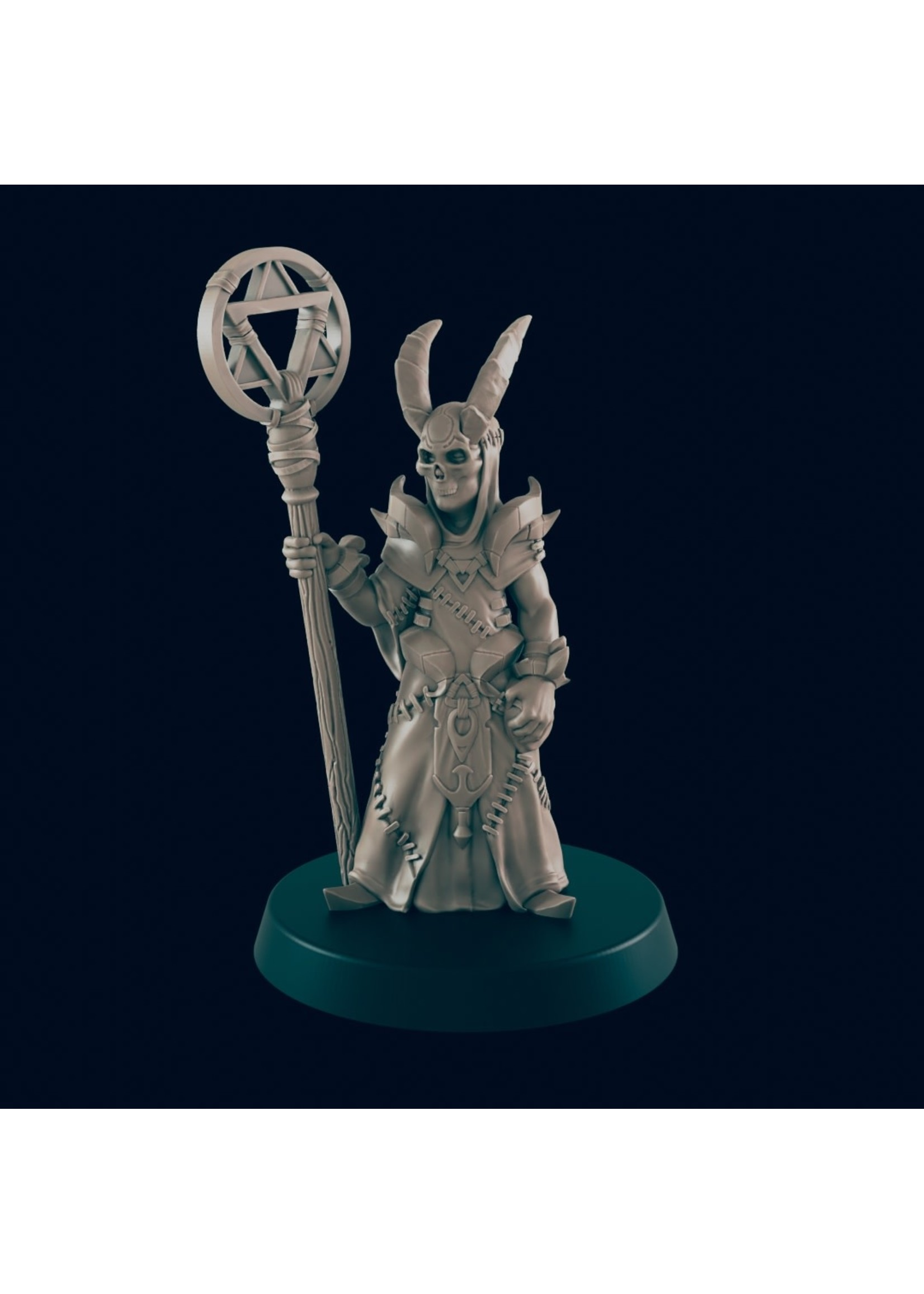 3D Printed Miniature - Cultist 2  - Dungeons & Dragons - Beasts and Baddies