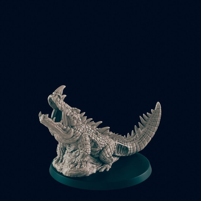 3D Printed Miniature - Undead Croc  - Dungeons & Dragons - Beasts and Baddies