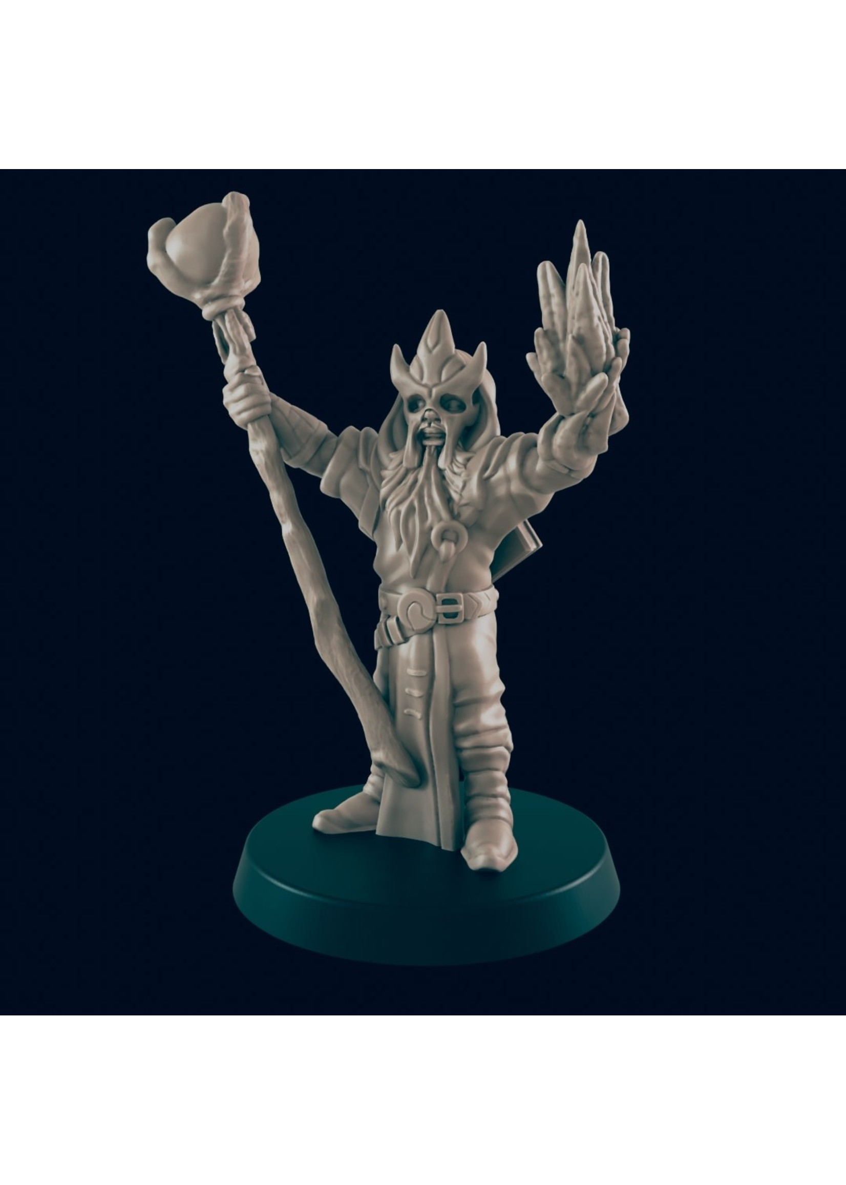 3D Printed Miniature - Evil Wizard  - Dungeons & Dragons - Beasts and Baddies