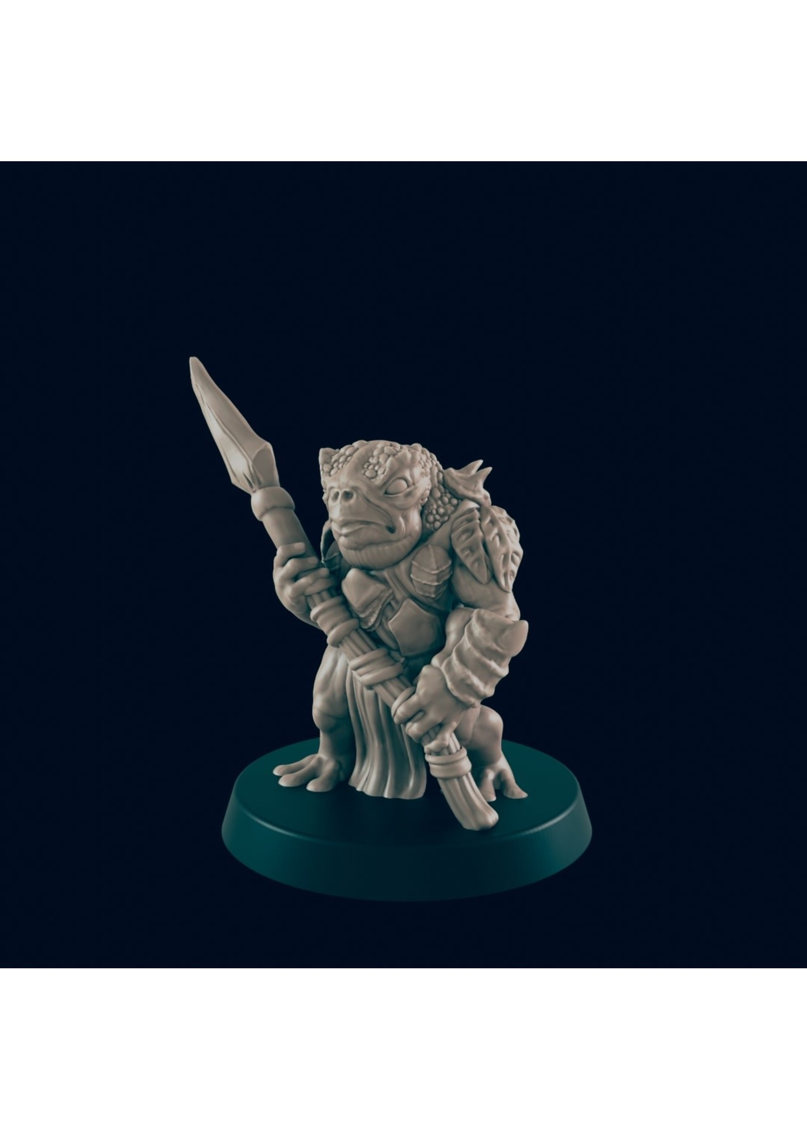 3D Printed Miniature - Bullywug Soldier  - Dungeons & Dragons - Beasts and Baddies