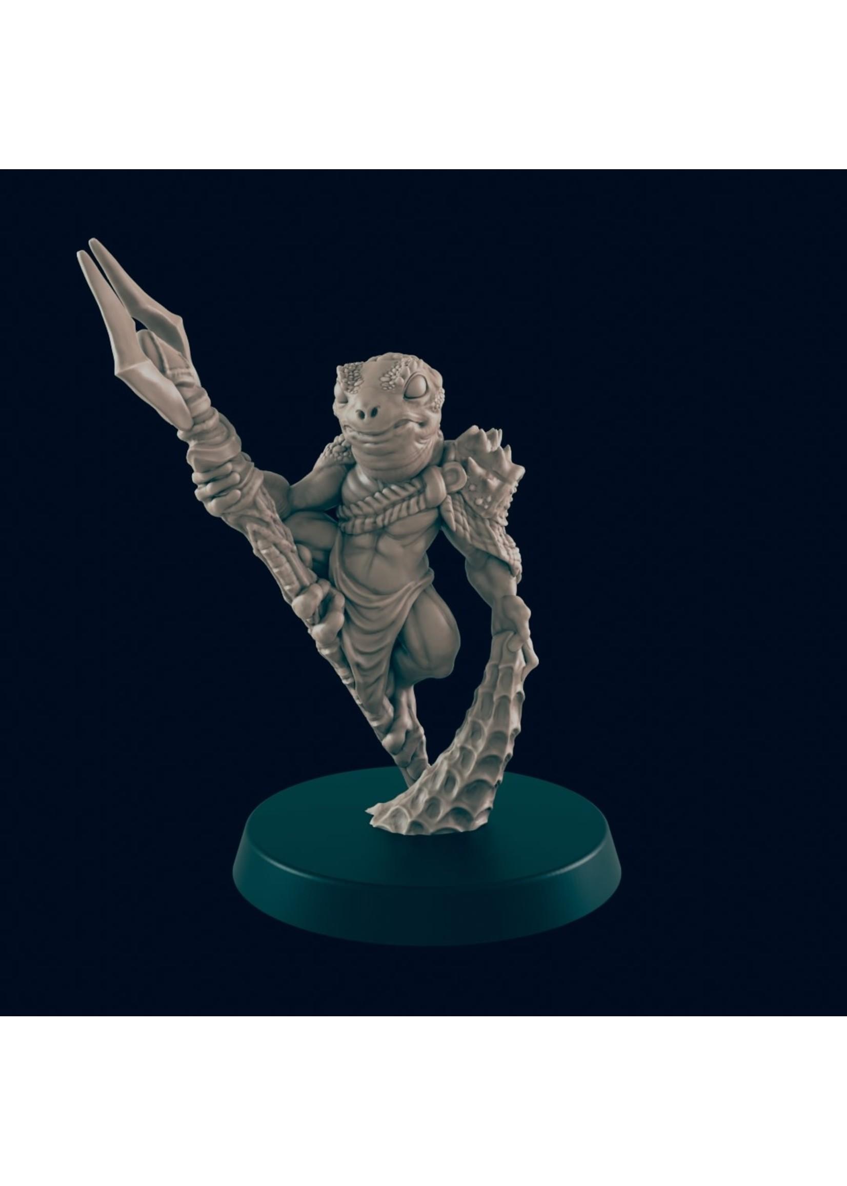 3D Printed Miniature - Bullywug Ranger  - Dungeons & Dragons - Beasts and Baddies
