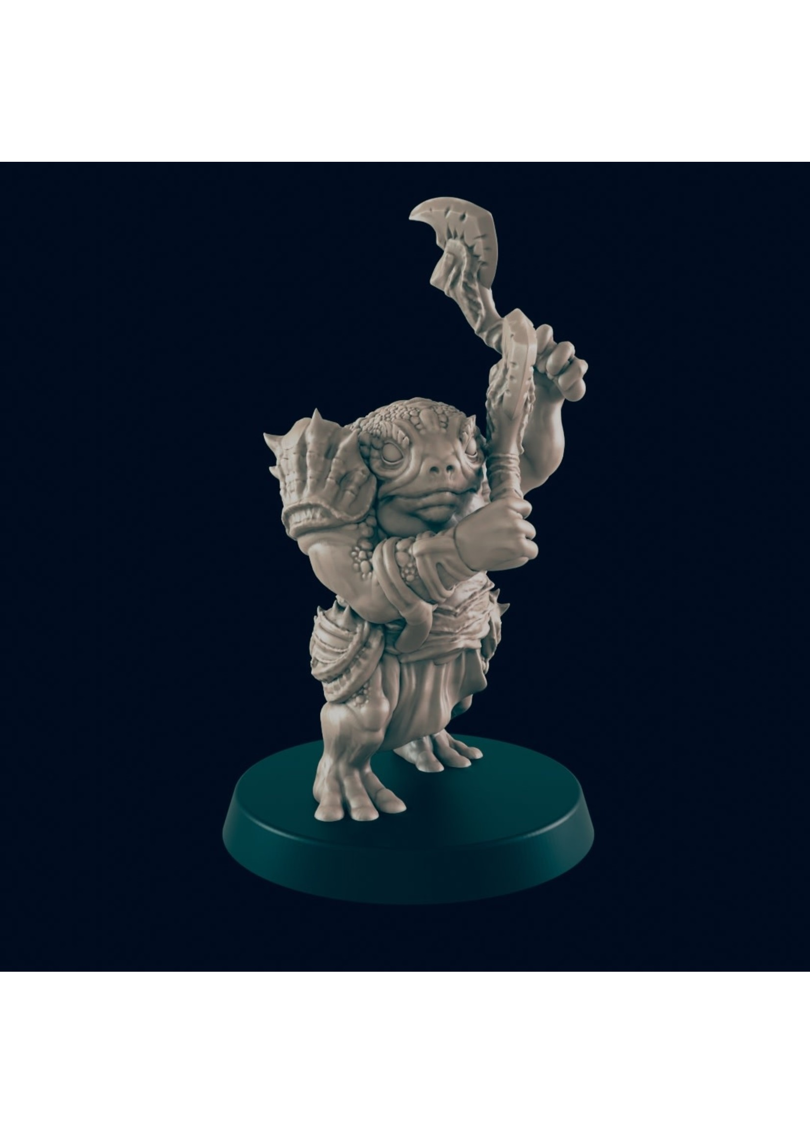 3D Printed Miniature - Bullywug Brute  - Dungeons & Dragons - Beasts and Baddies