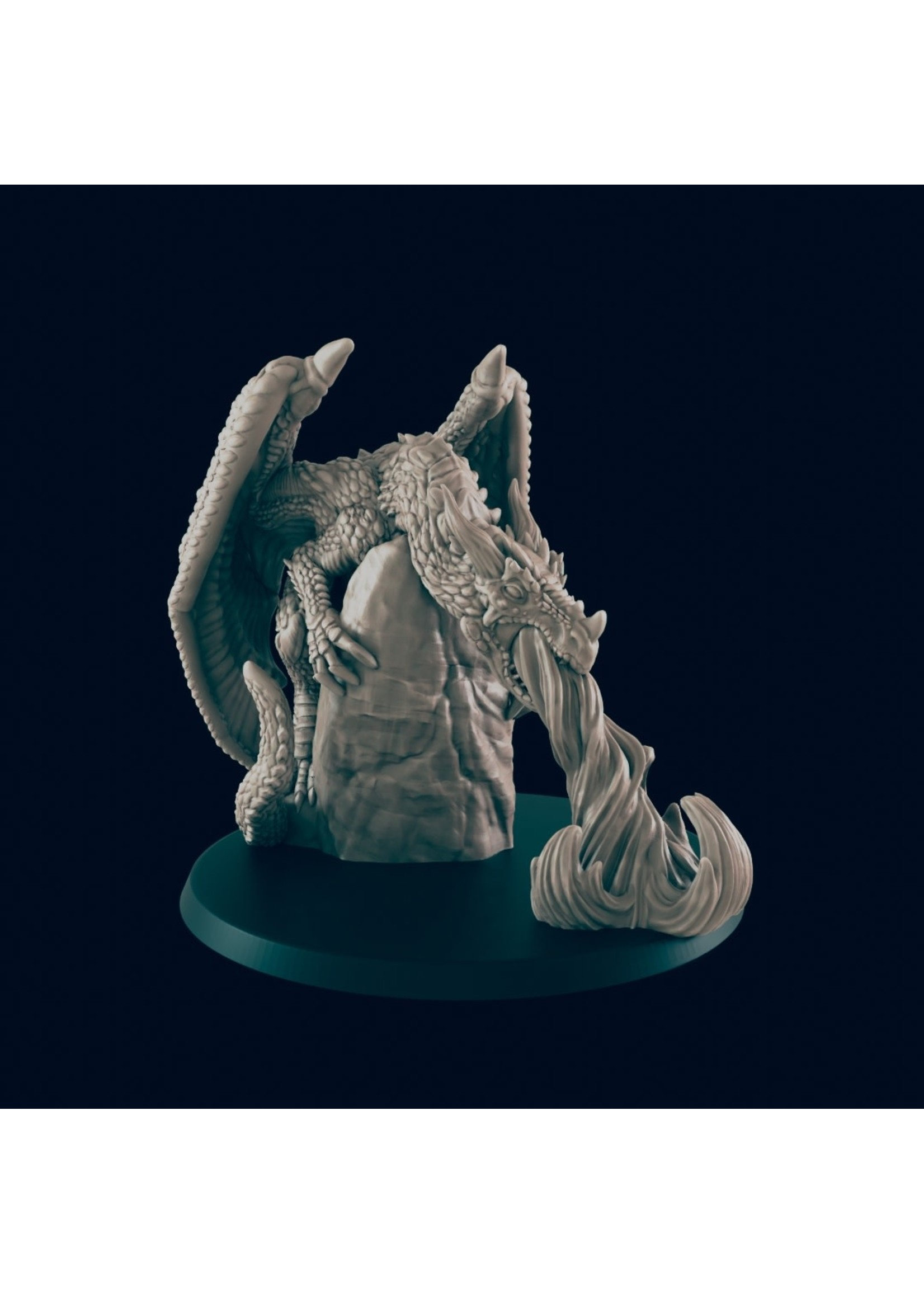 3D Printed Miniature - Young Dragon  - Dungeons & Dragons - Beasts and Baddies