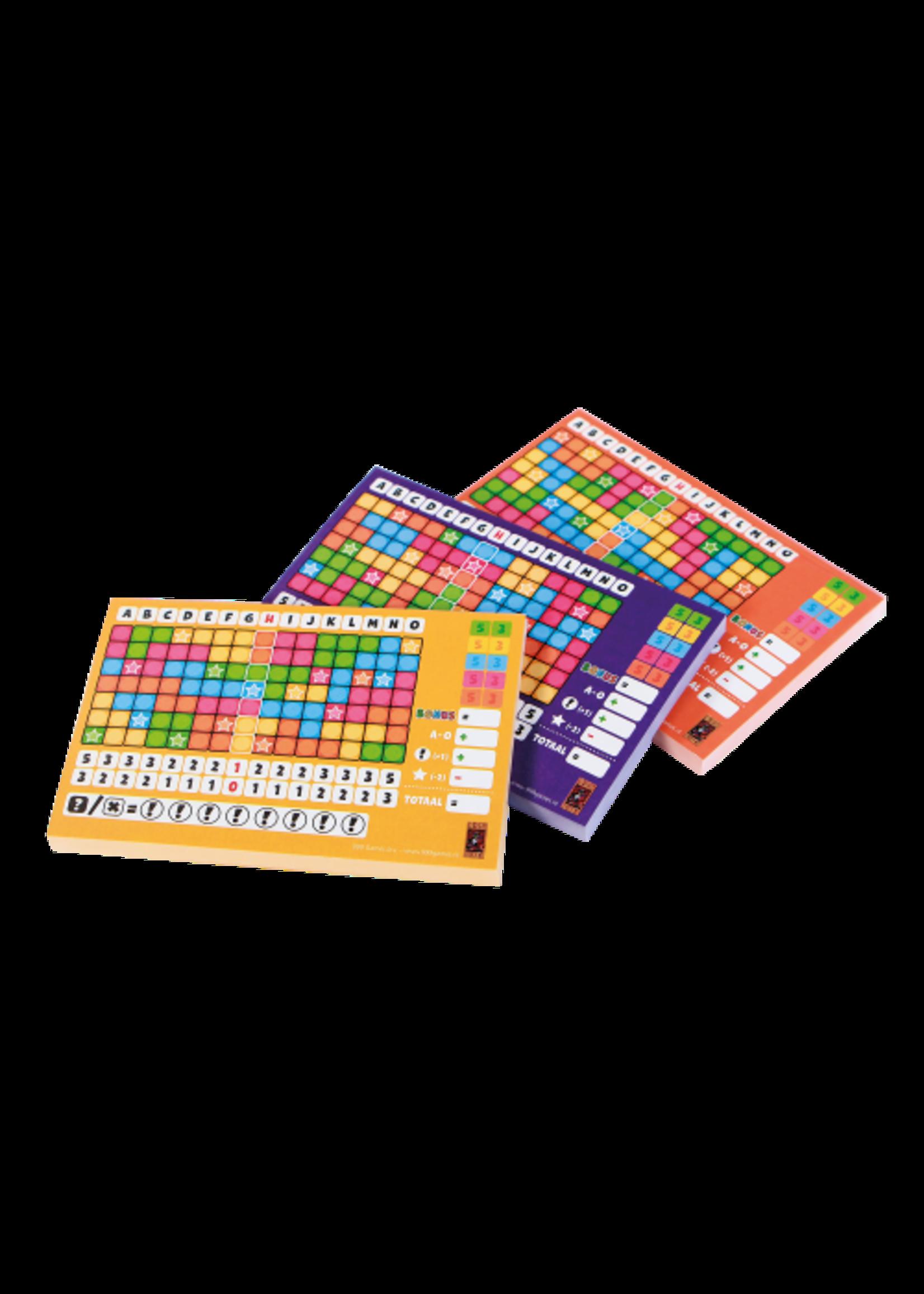 Scoreblokken Keer op Keer drie stuks Level  2, 3 en 4