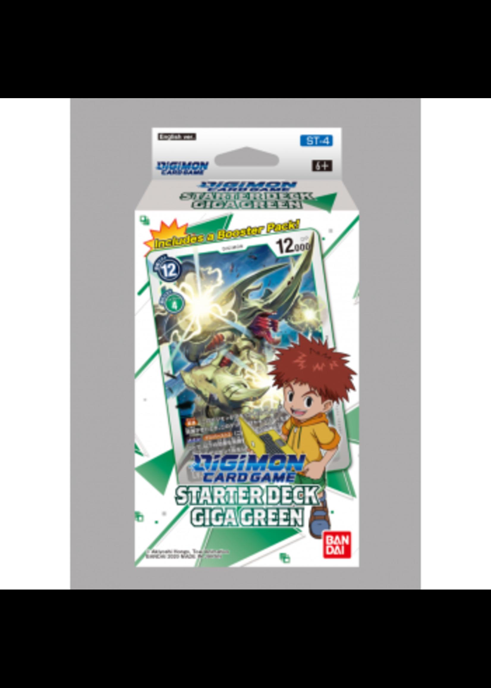 Digimon Card Game - Starter Deck Display Giga Green ST-4