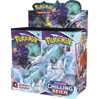 Pokémon SS6 Chilling Reign Booster Display