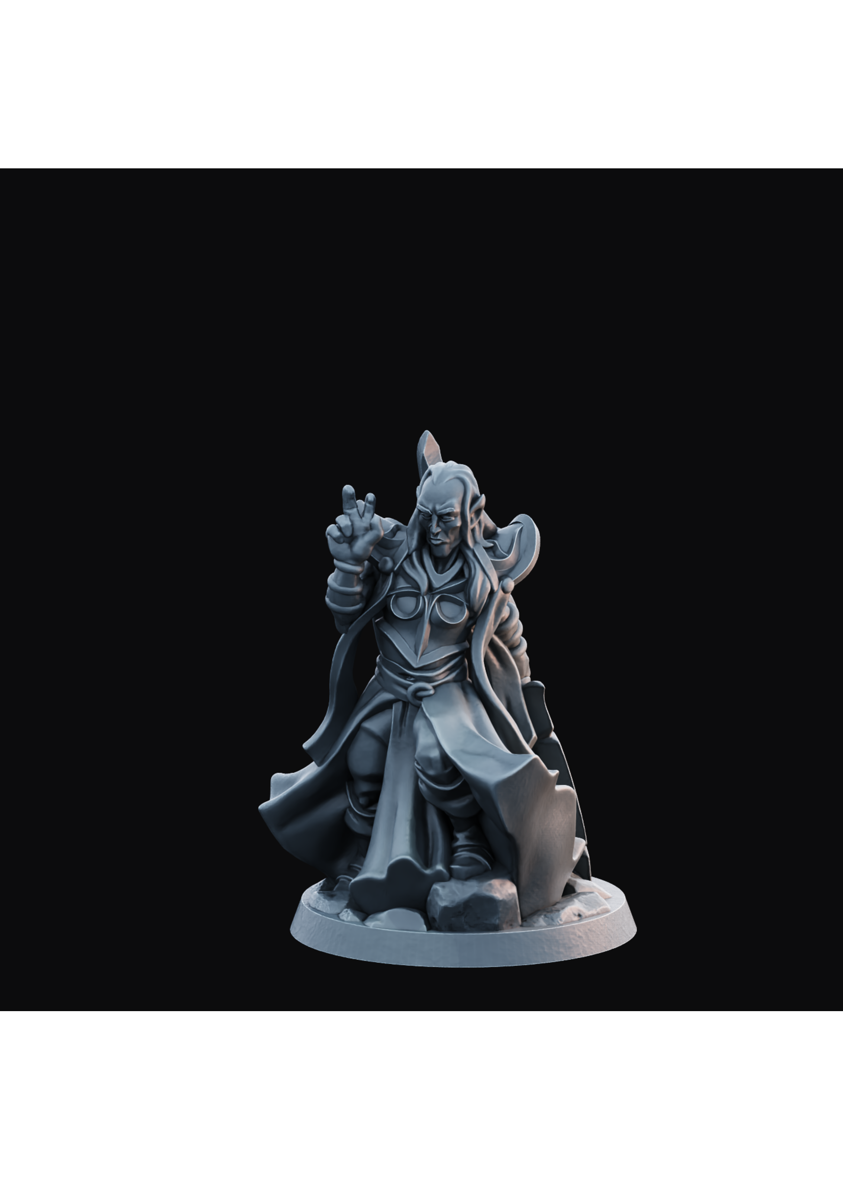 3D Printed Miniature - Elven Male 01 - Hero of the Realm KS