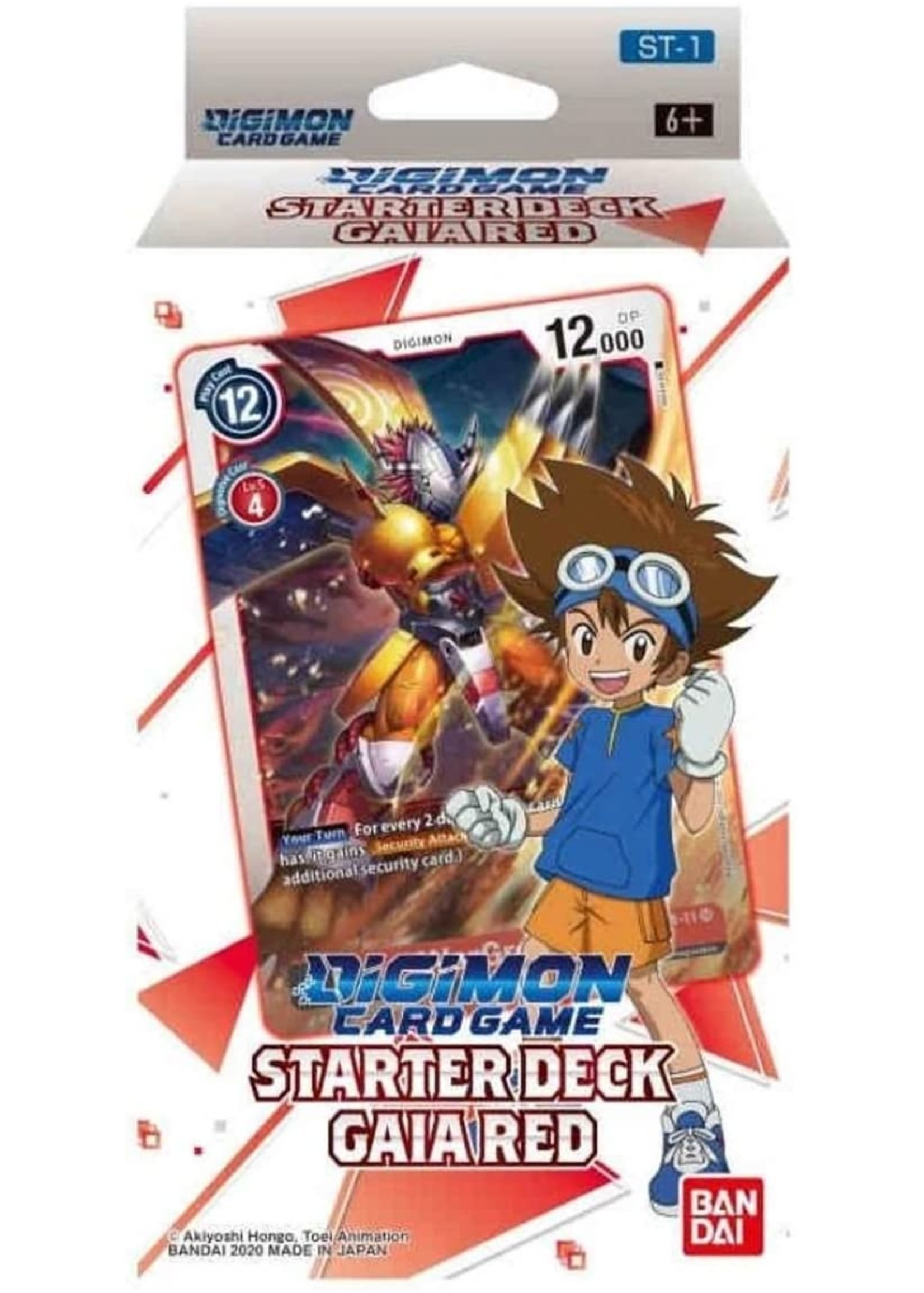 Digimon Card Game - Starter Deck Display Gaia Red ST-1