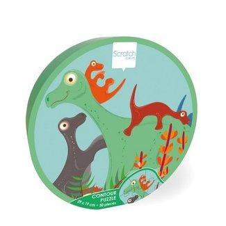 Scratch Puzzel 30 stuks - Dinosaurussen