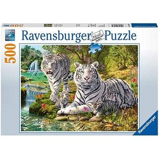 Ravensburger puzzel 500 st Ravensburger - Witte roofkatten
