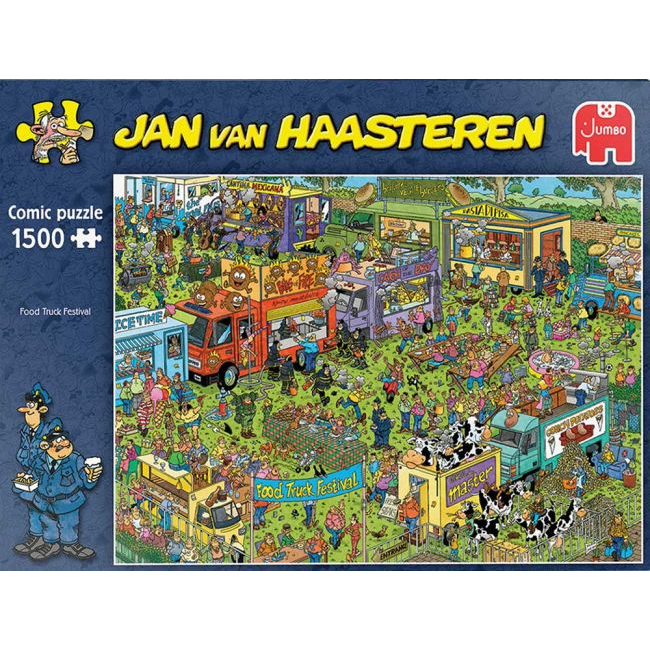 Puzzel Jan Van Haasteren - Food Truck Festival -1500 st