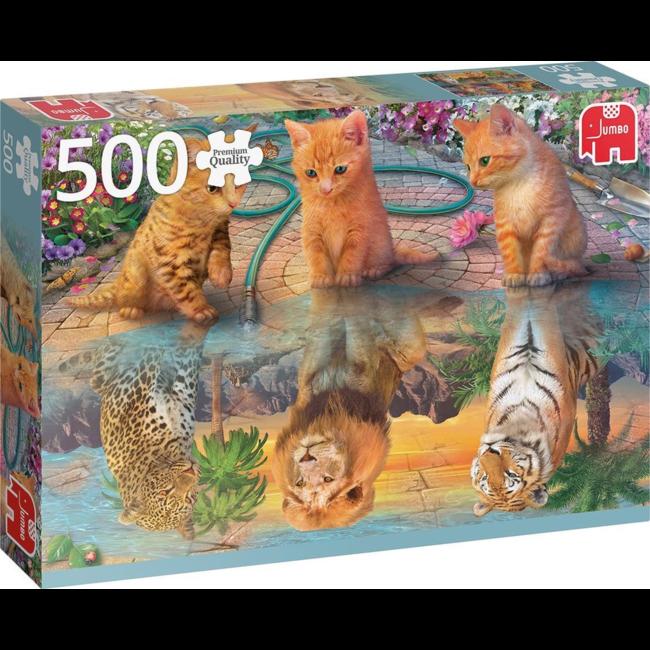 Puzzel - Kittens met grote ambities - 500 stukjes - Premium Quality