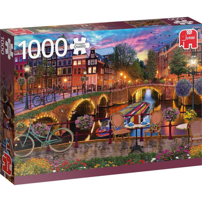 Puzzel Premium Collection - Amsterdam Canals- 1000 st