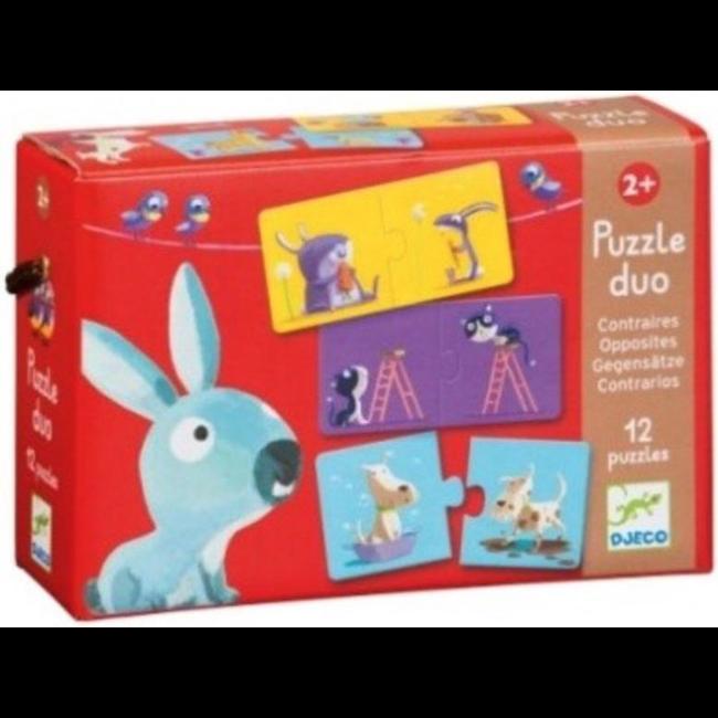 Djeco Puzzle Duo - Tegenpolen (10 puzzles)