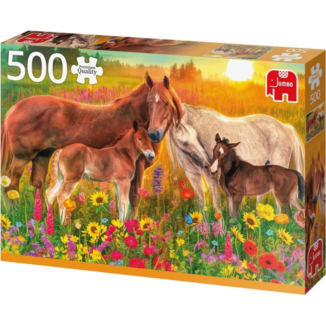Puzzel Premium Collection - Horses in the Meadow - 500 st
