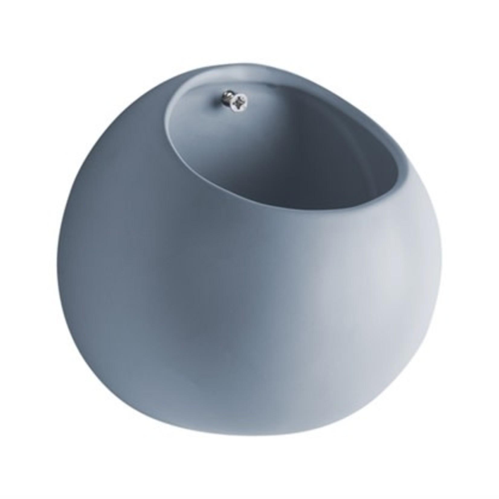 Present time Muurpot globe blauw ∅ 14,5cm