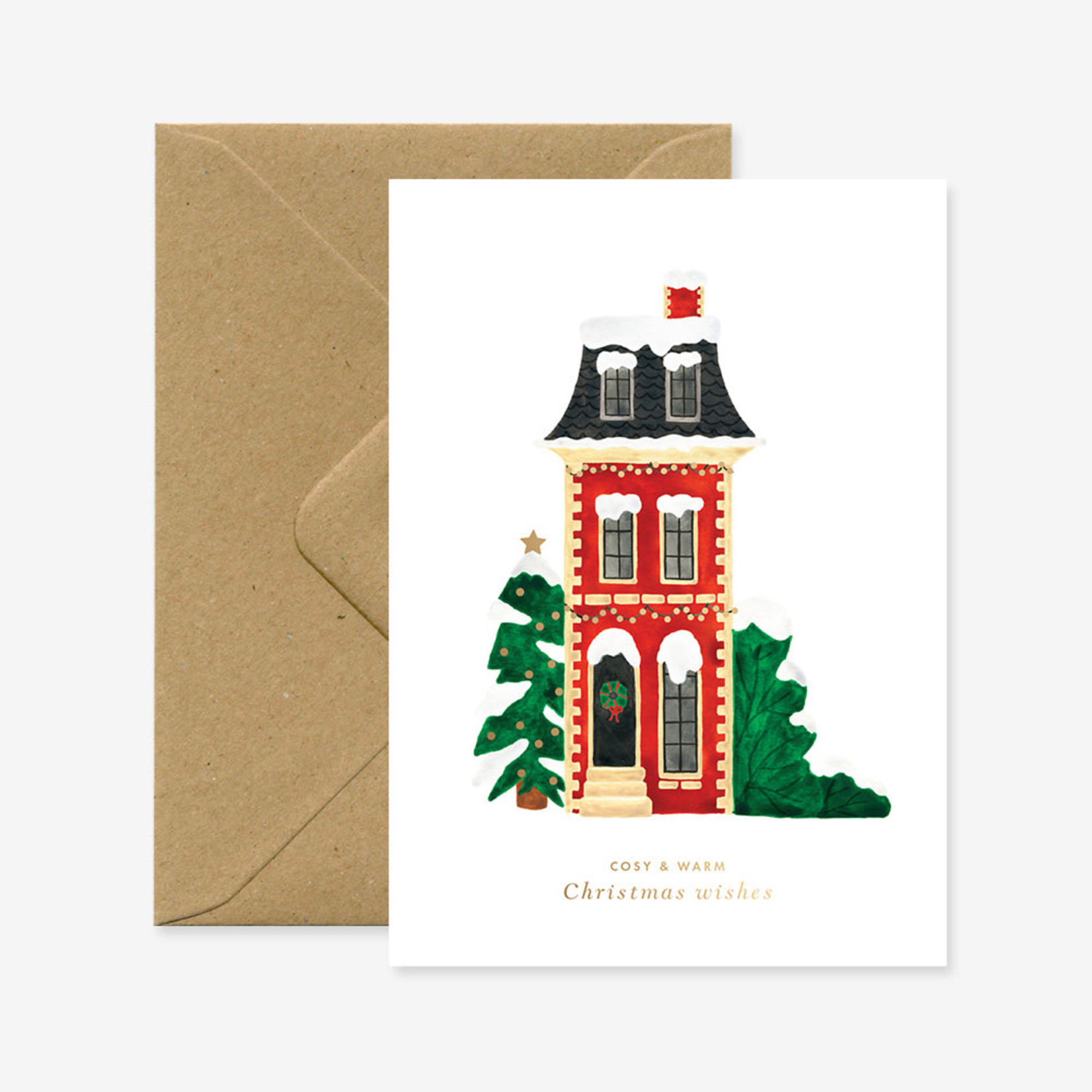 All the ways to say Wenskaart: Christmas cosy house