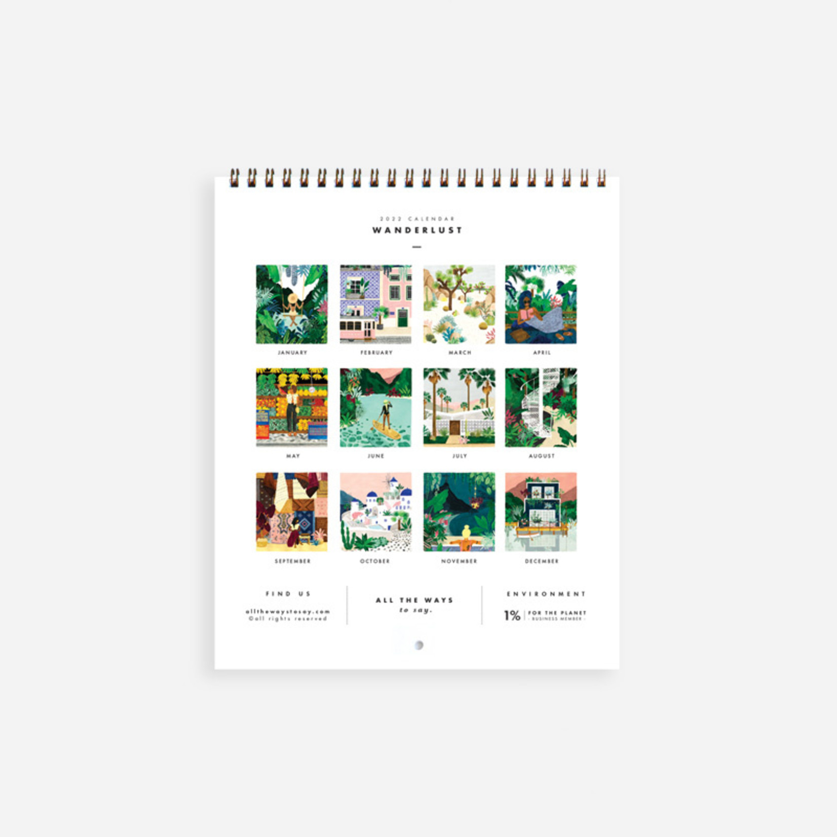 All the ways to say Kalender: 2022 Wanderlust
