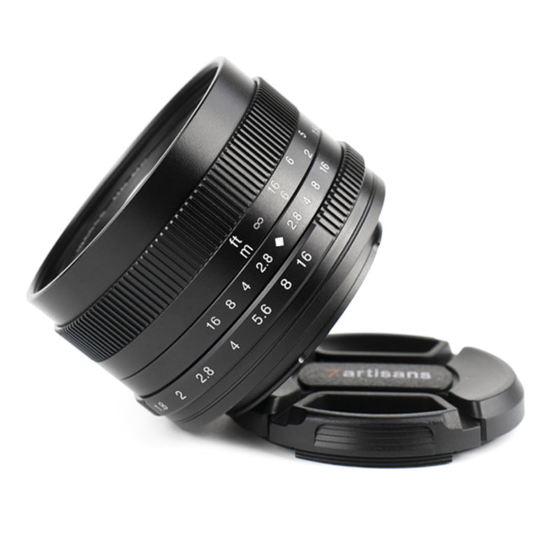 7Artisans 50mm f/1.8 APS-C Manual Lens  (Canon EOS-M)