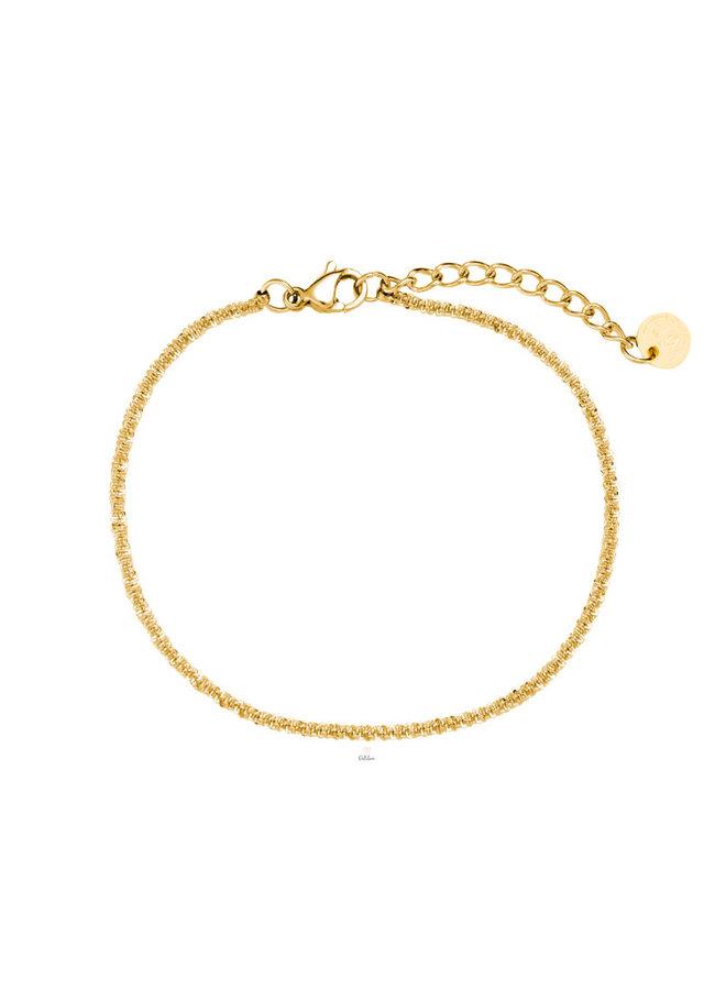 ROUND TWIST BRACELET - GOLD