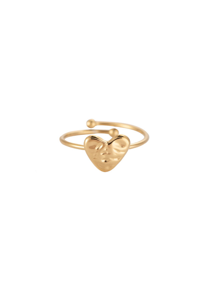 ROUGH HEART STAINLESS STEEL RING