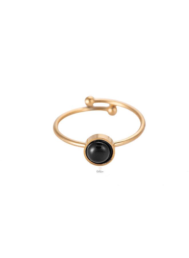 BLACK SPOT RING - GOLD