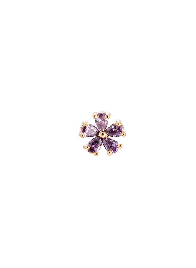SPARKLING FLOWER EARRING - LILAC