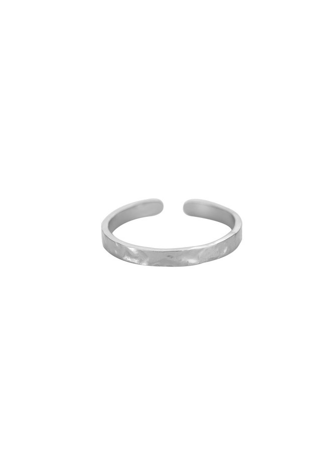 SIMPLE ROUGH STAINLESS STEEL RING