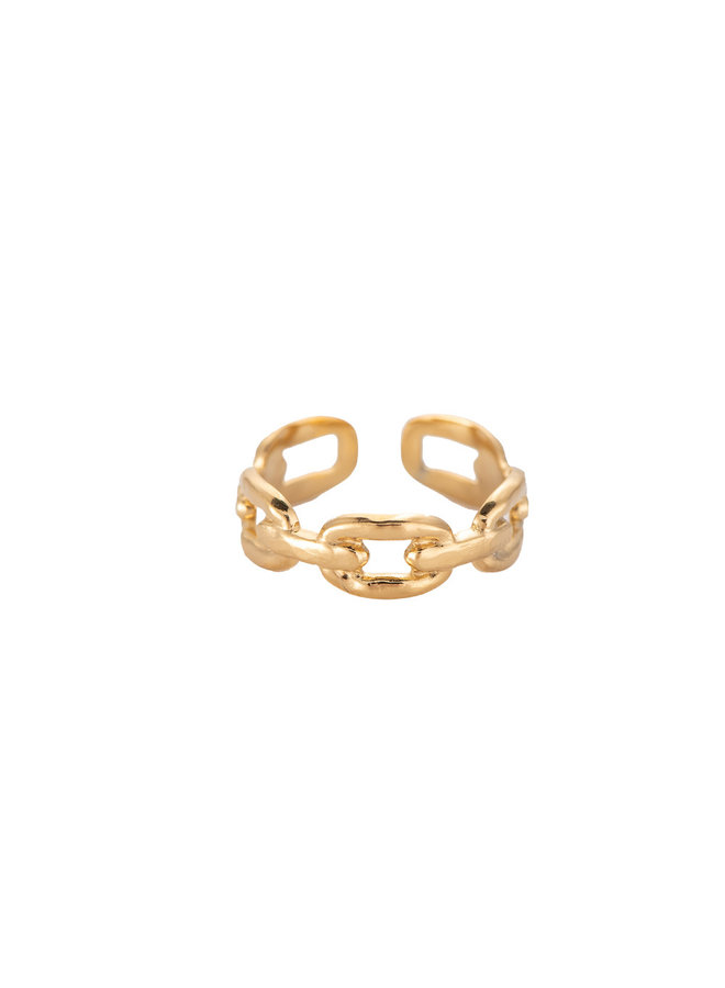ARCHING STAINLESS STEEL RING