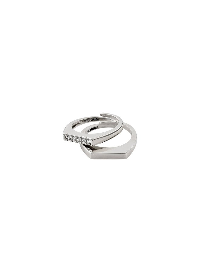 RING RADIANCE SILVER PLATED