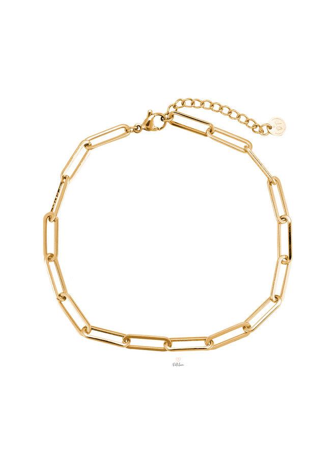 TERESA STAINLESS STEEL ANKLET - GOLD