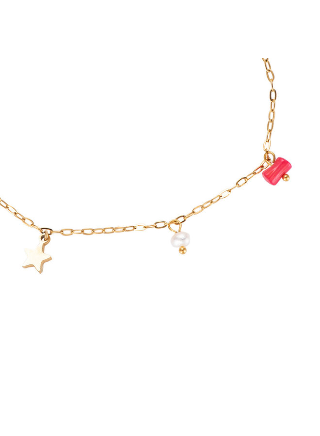 PINK STONE ANKLET