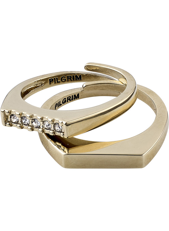 RING RADIANCE GOLD PLATED CRYSTAL