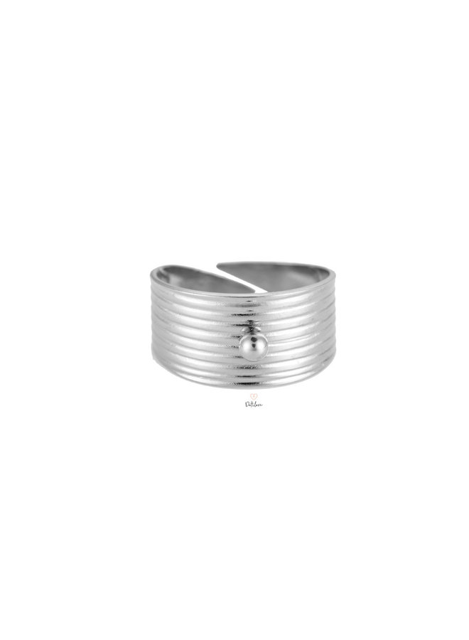 OPENING STAINLESS STEEL RING - SILVER