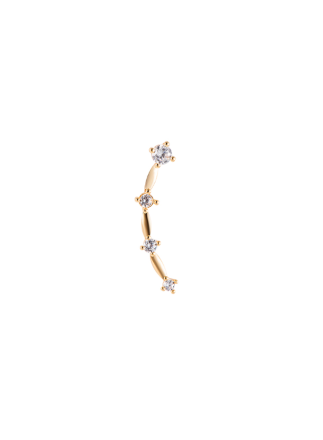 MOON RIVER PLATED EARRING