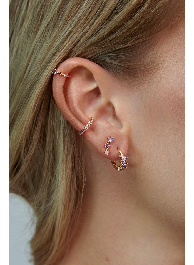THREE STAR PLATED EARRING