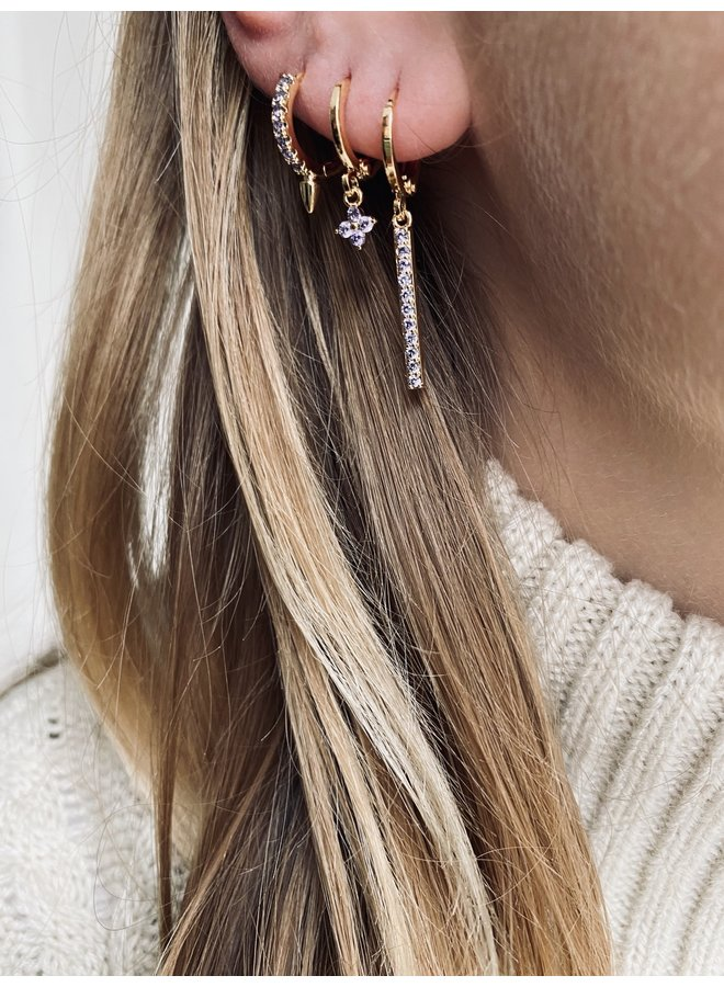 HERA PLATED EARRING - LILAC
