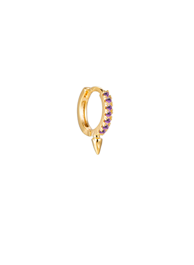 STEWART PLATED EARRING - LILAC