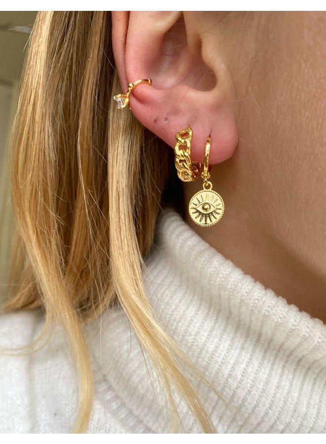 GOLDEN EYE 7.0 EARRING - GOLD