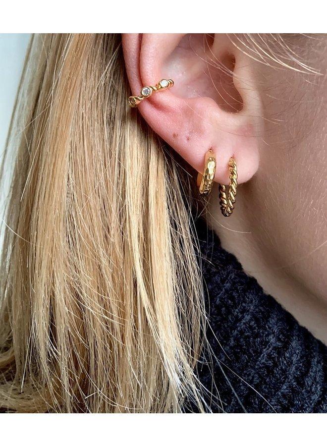 TWIST STAINLESS STEEL EARRING