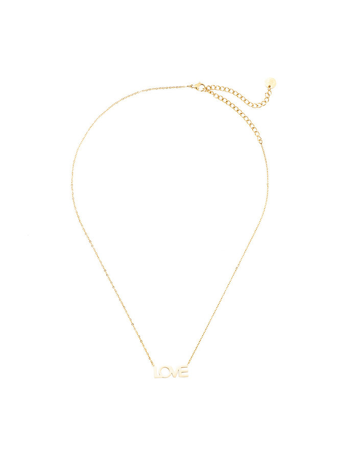 LOVE NECKLACE GOLD PLATED