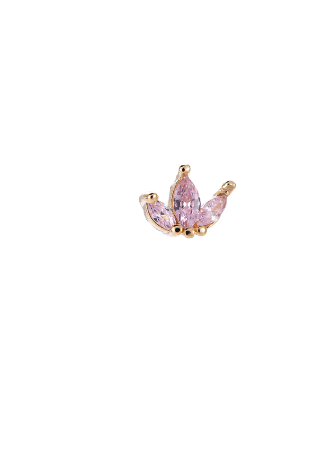 JODIE PLATED EARRING - PINK