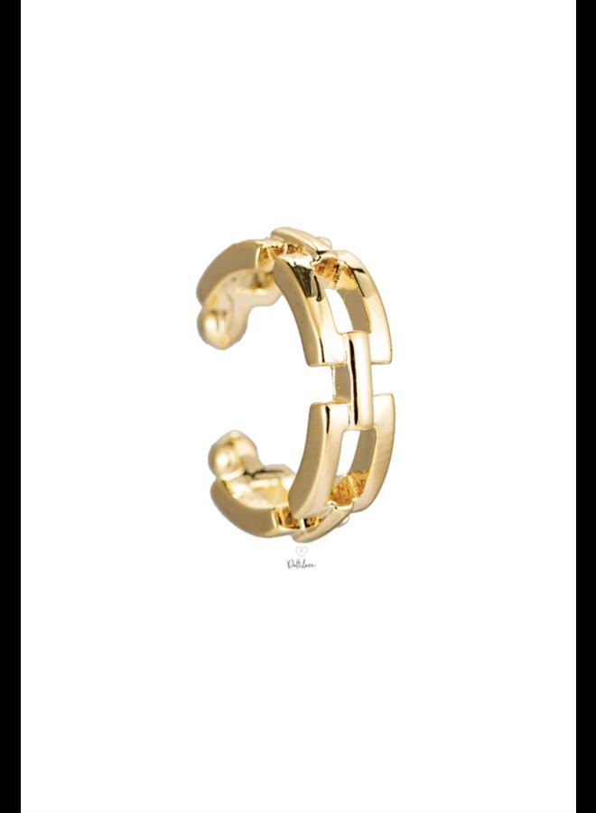 CHAIN PLATED EARCUFF - GOLD