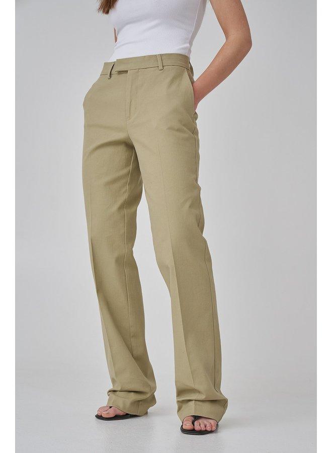 LONG LEG TWILL SUIT PANTS - GREEN
