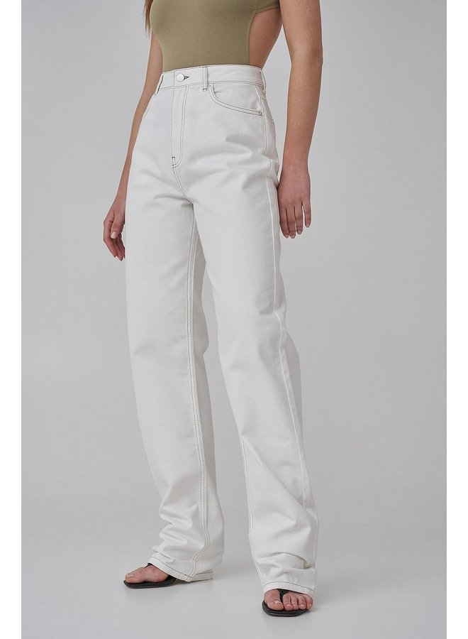 LONG LEG DENIM - ANTIQUE WHITE
