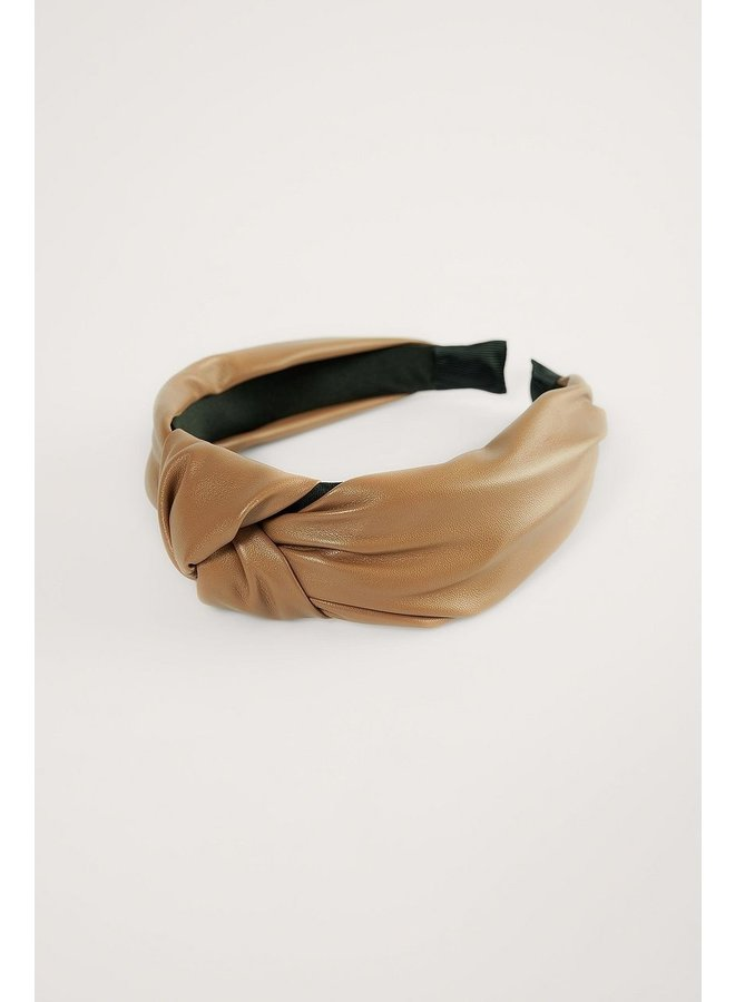 FAUX LEATHER HEAD BAND